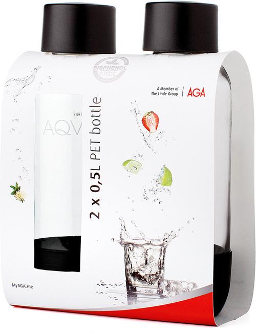 Aqvia Vandflaske Pet 500 Ml. 2 Stk. Black Kolsyremaskin - Svart