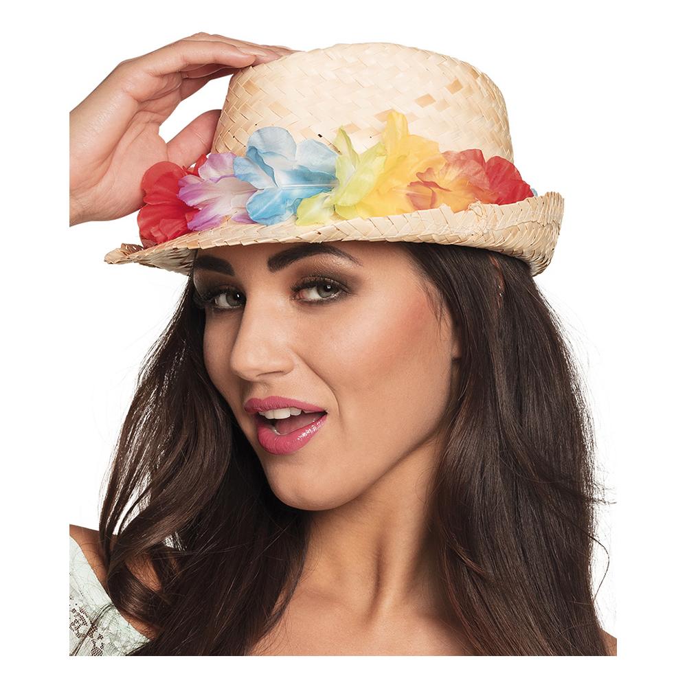 Hatt Aloha med Blomstergirlang