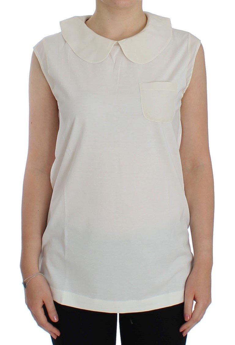 Dolce & Gabbana Women's Sleeveless Tops White SIG13293 - IT40|S