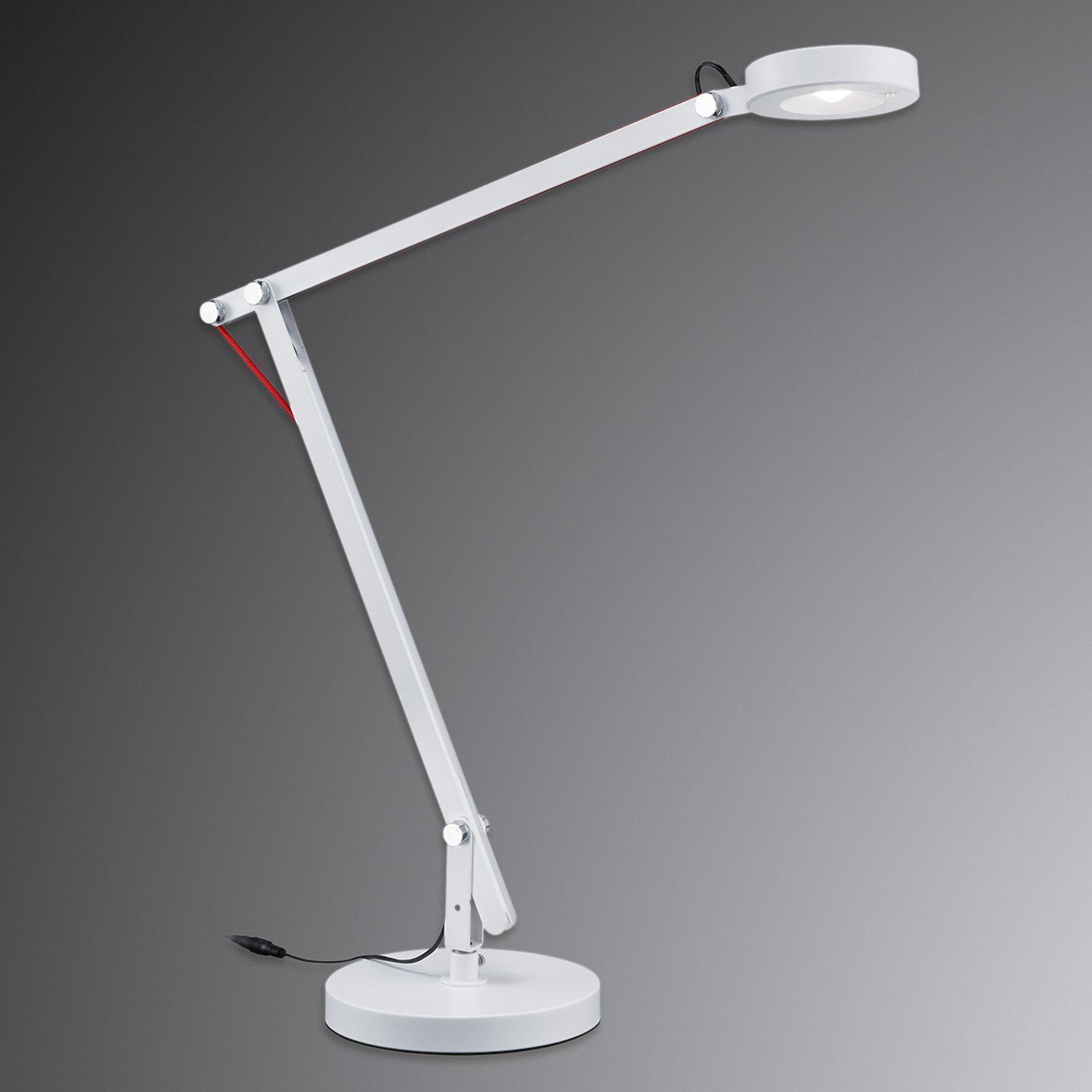 Multifunksjonslampe Amsterdam i hvitt med LED