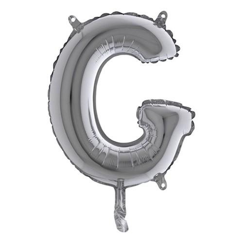 Bokstavsballong Mini Silver - Bokstav G