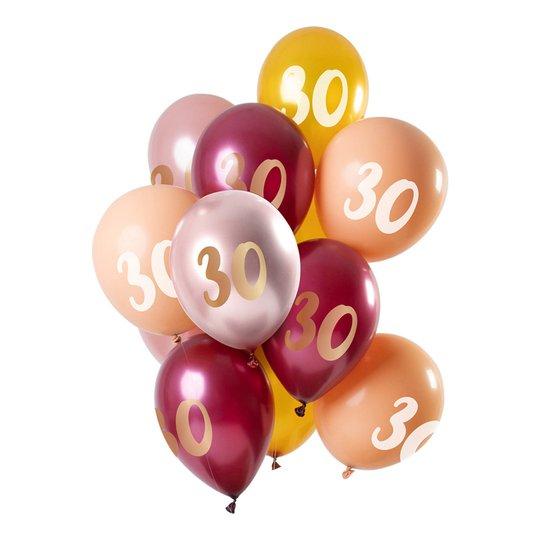 Latexballonger 30 Krom Flerfärgad - 12-pack