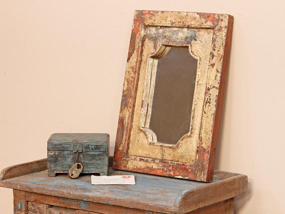 Rustic Cream Coloured Mirror Medium