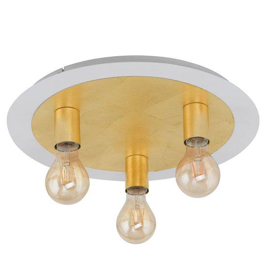 LED-kattovalaisin Passano 3-lamppuinen, kulta