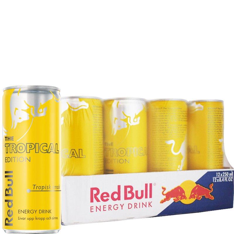 Red Bull Tropical 12-pack - 50% rabatt