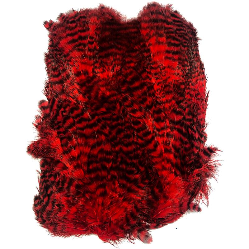 Softhackle patch Grizzly Red