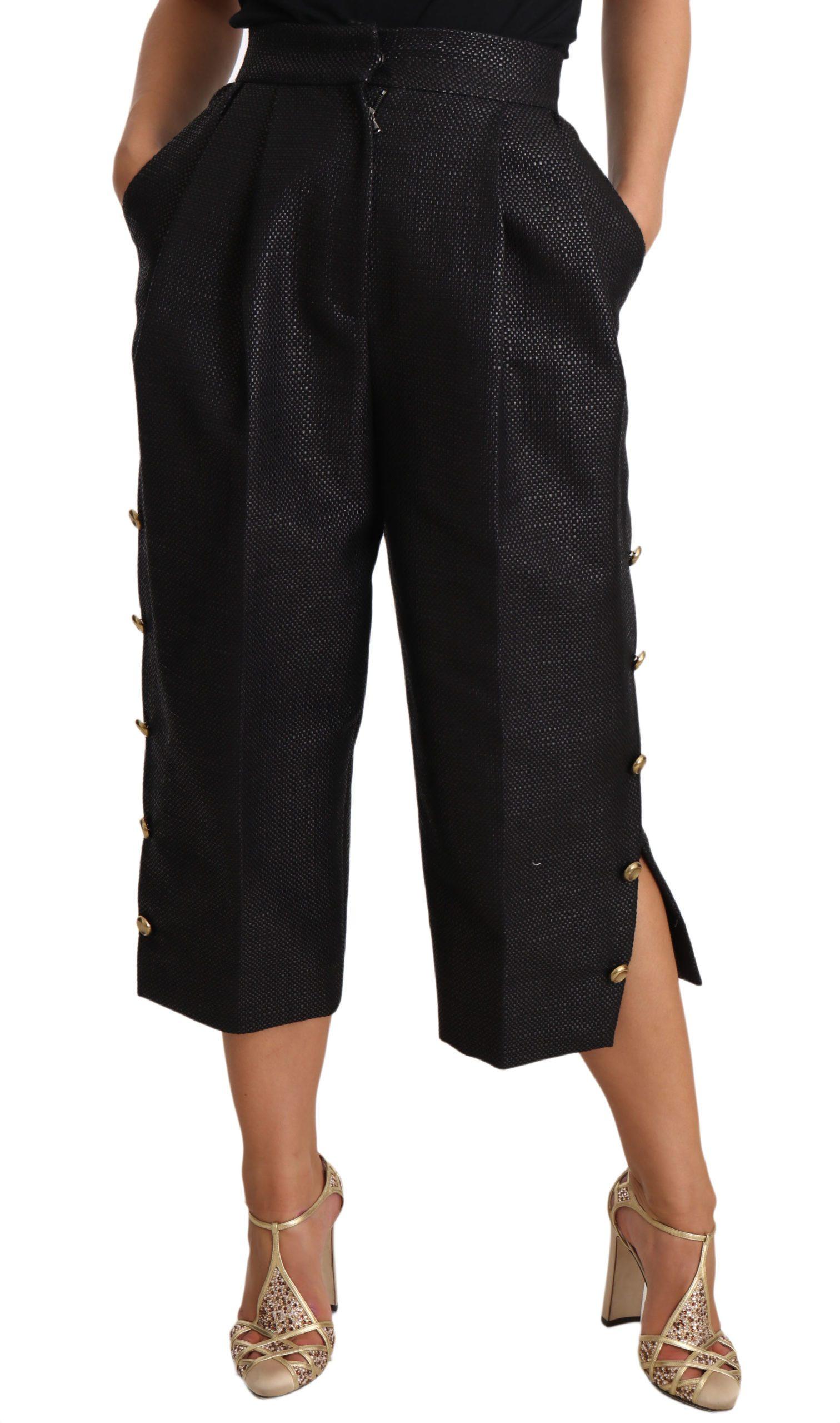 Dolce & Gabbana Women's Trouser Black PAN70074 - IT38|XS