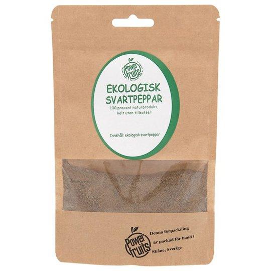 Powerfruits Ekologisk Svartpeppar Mald, 50 g