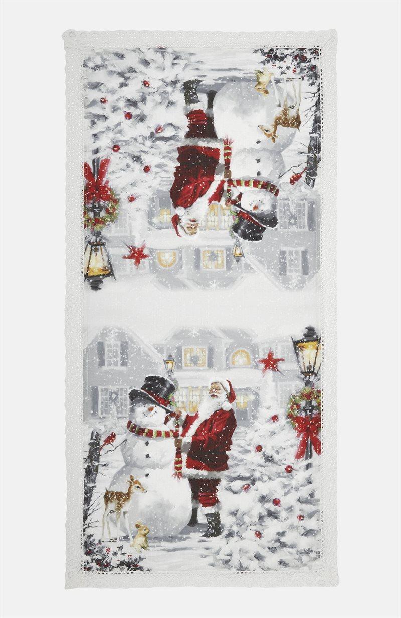 Julkväll kaitaliina joulupukki/lumiukko