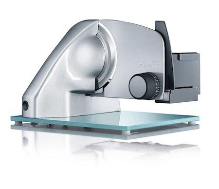 Vivo Påleggsmaskin med Glassbunn og Glatt Knivblad