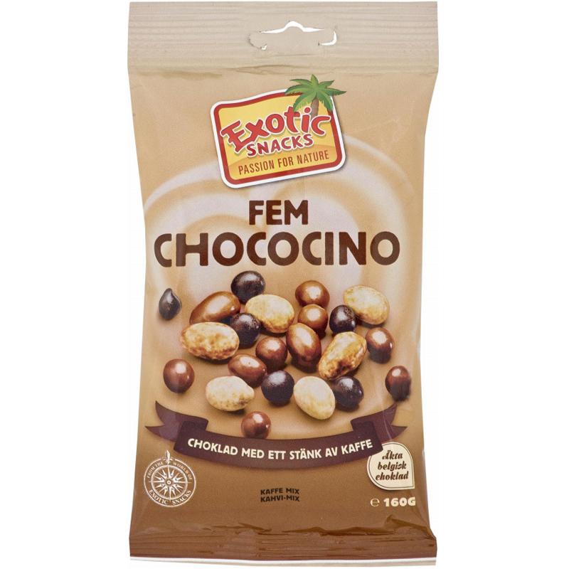 "Välipalasekoitus ""Fem Chococino"" 160g - 50% alennus"