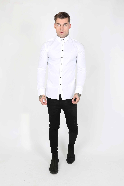 Smart Longsleeve Men's Shirt - White, Small