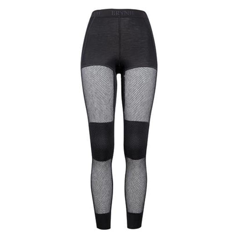 Brynje W's Wool Thermo Longs Svart XL Longs med god komfort.
