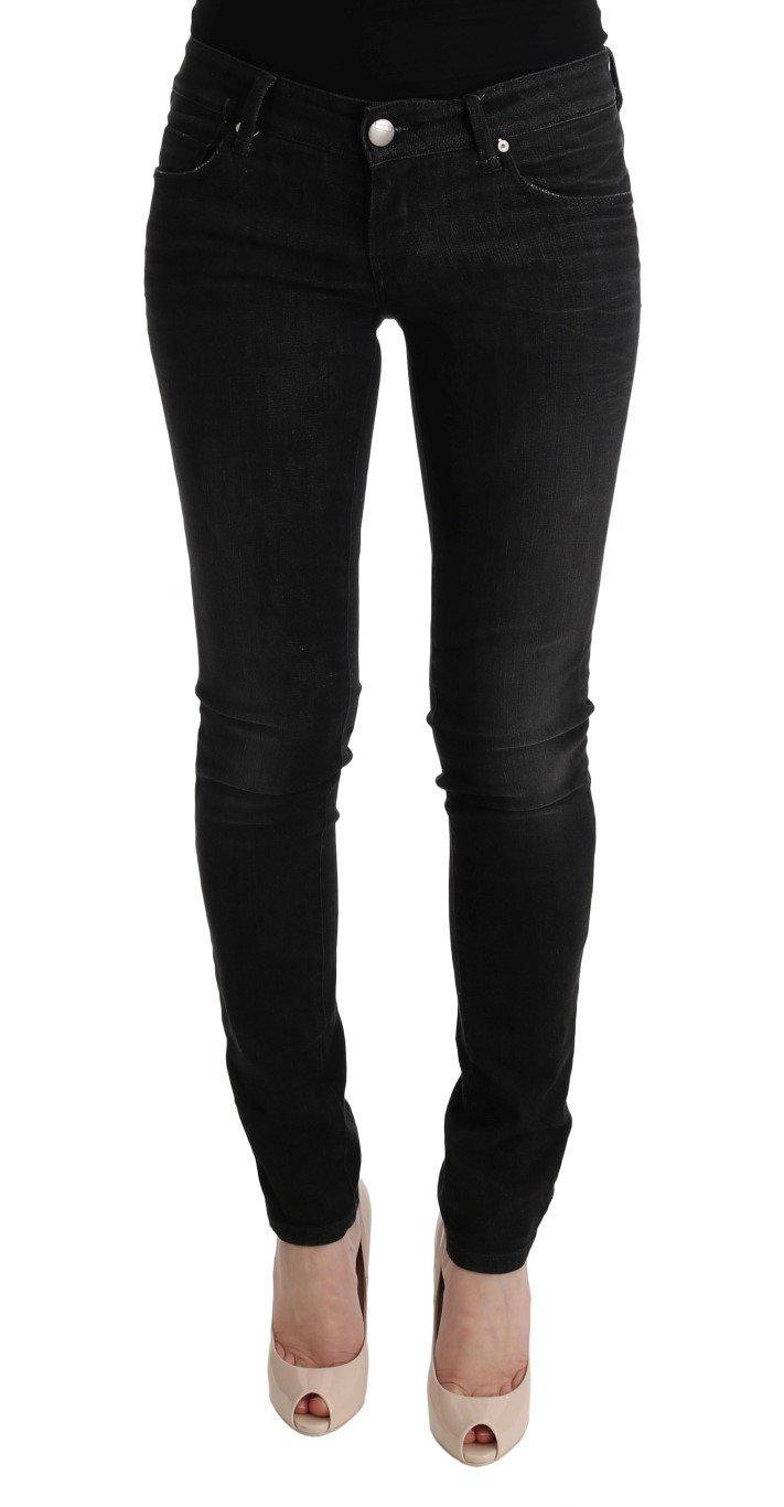 Acht Women's Denim Cotton Bottoms Slim Fit Jeans Black SIG30415 - W26