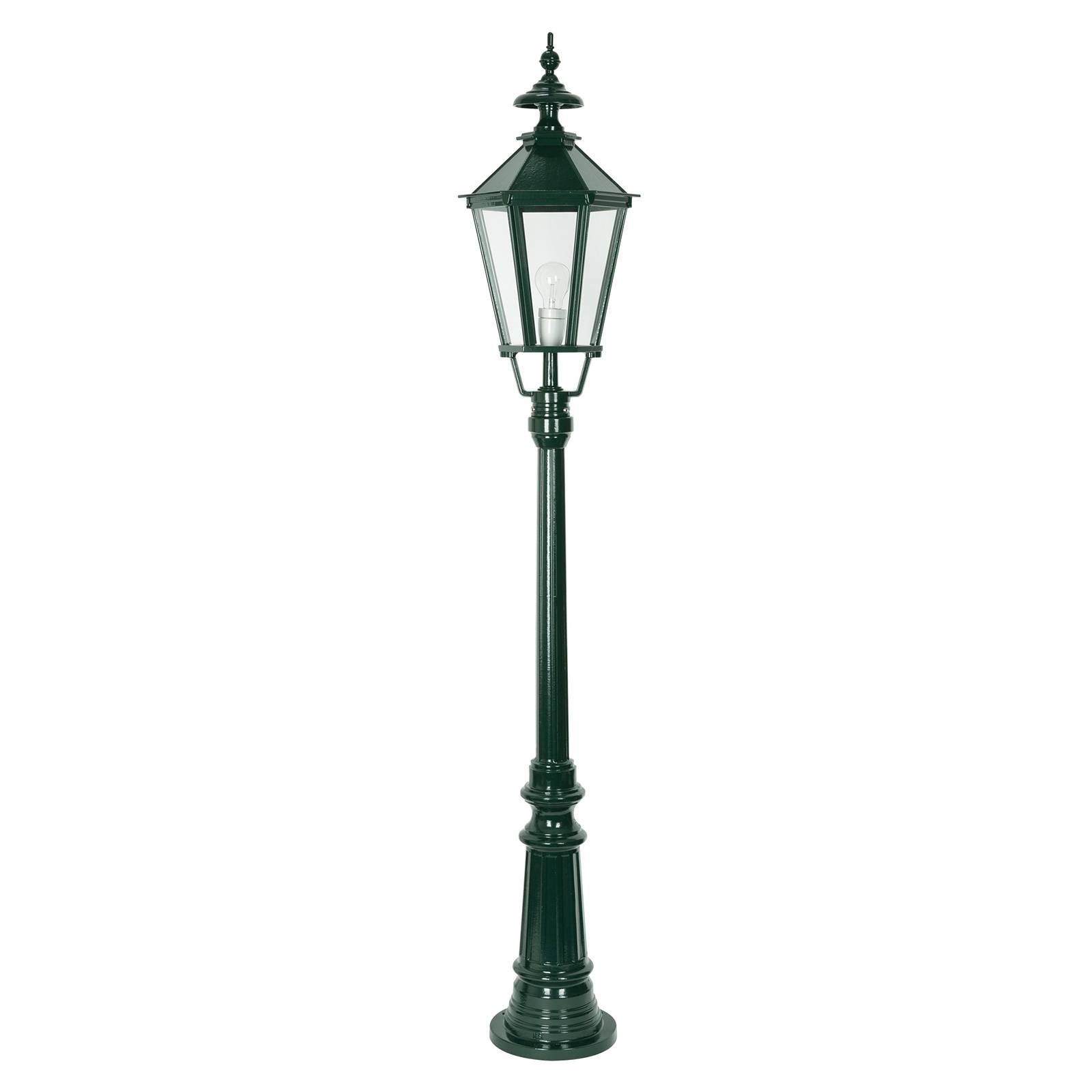 Kaunis Dublin-lyhtypylväs 1-lamppuinen vihreä
