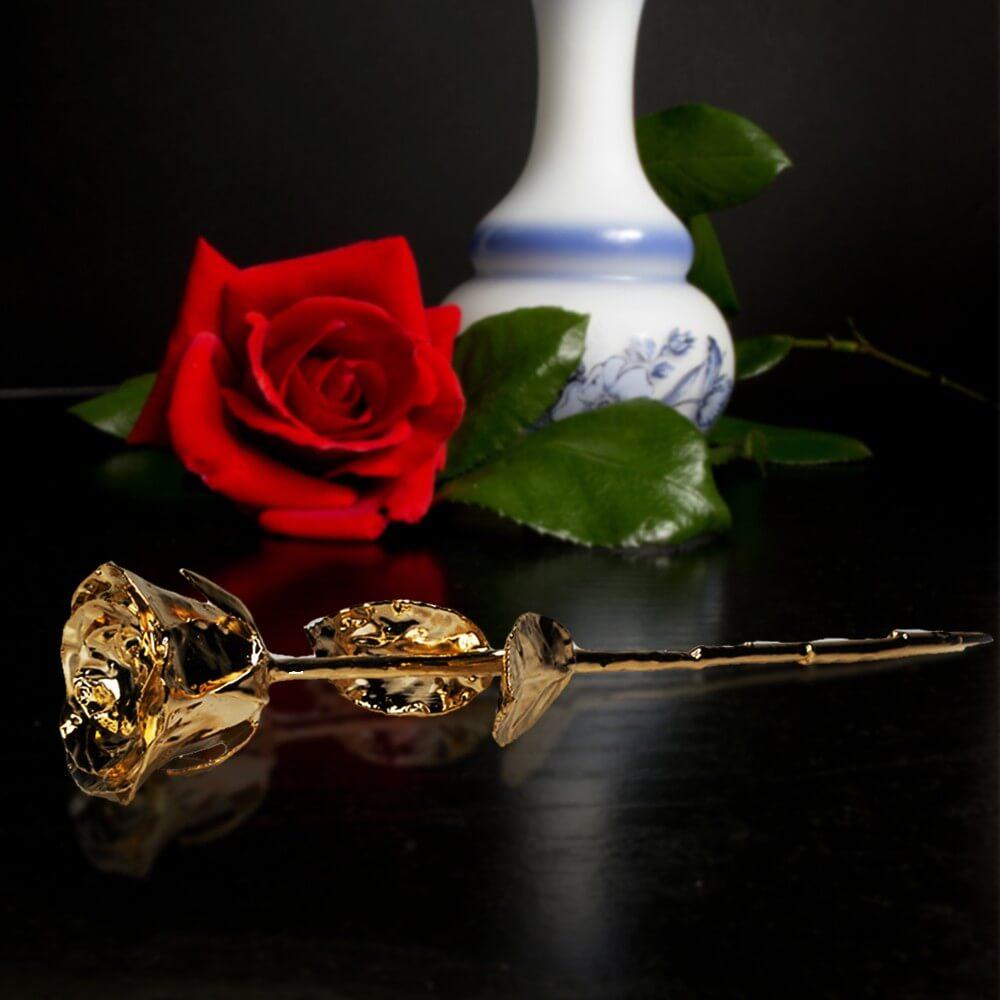 24K Golden Rose - Black Giftbox (03261.GO)