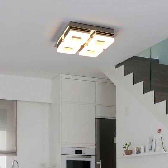 Nelilamppuinen LED-kylpyhuonekattovalaisin Marija