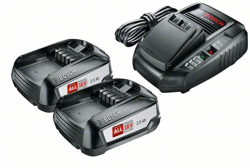 Bosch Batteri og lader 18V 2 x 2,5 Ah