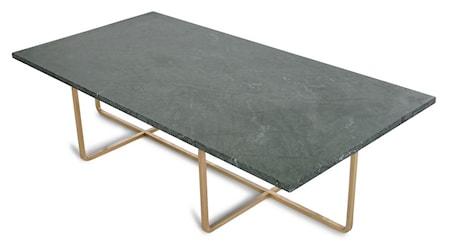 Ninety Table XL - Grön marmor/mässingsstomme H30 cm