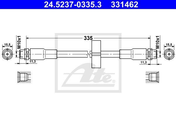 Jarruletku ATE 24.5237-0335.3
