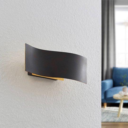 Lindby Larisa LED-vegglampe i bølget form