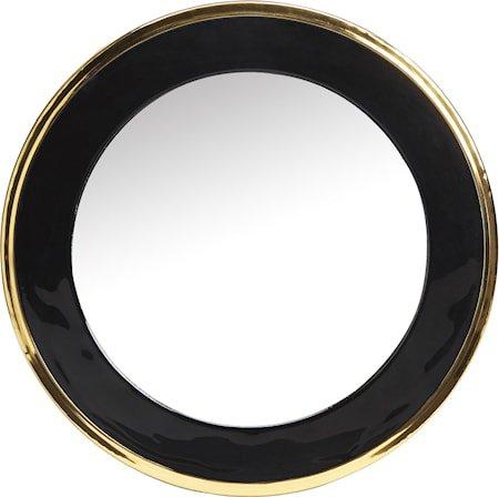 Blanka speil Svart/gull 50cm