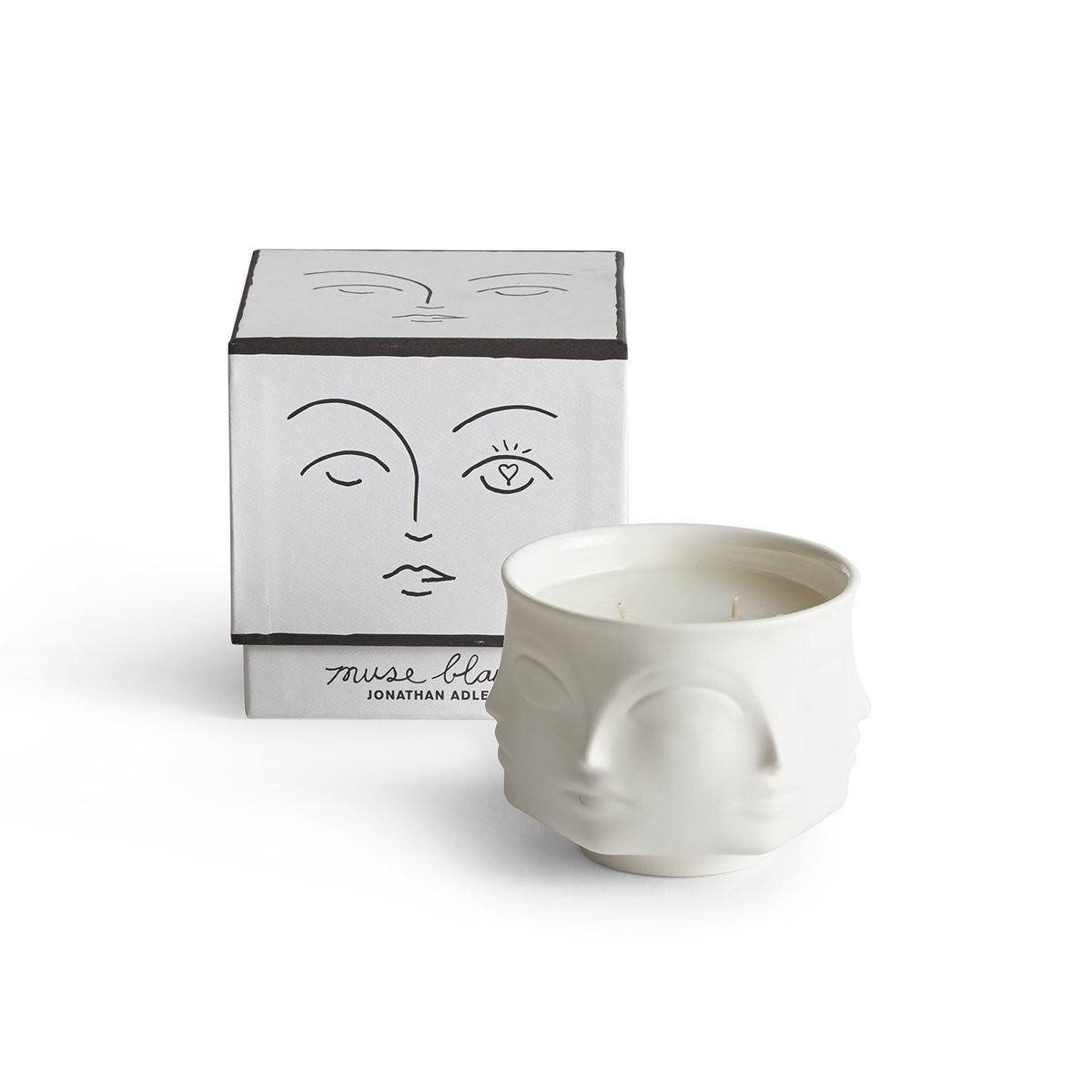Jonathan Adler I Muse Blanc Ceramic Candle