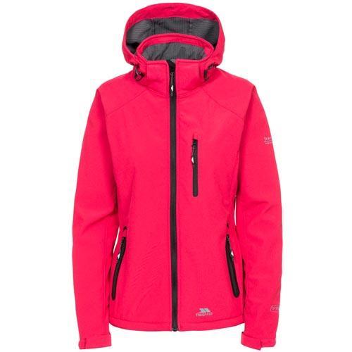 Trespass Women's Softshell Jacket Various Colours Bela II - Raspberry S