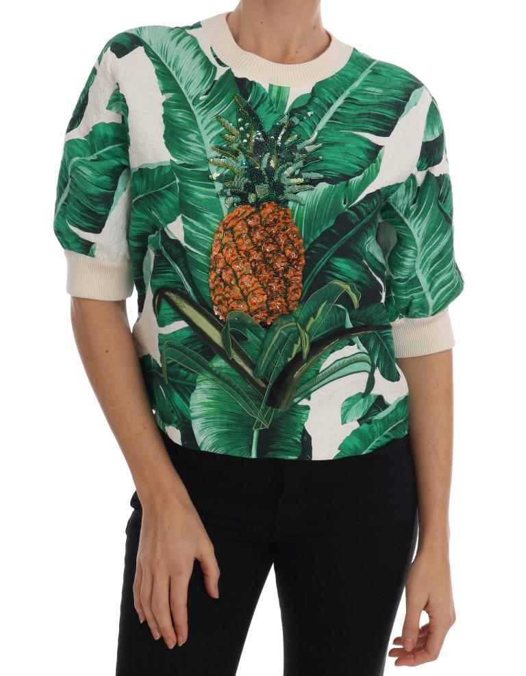 Dolce & Gabbana Women's Sequins Crewneck Sweater Multicolor TSH1752 - IT36 | XS