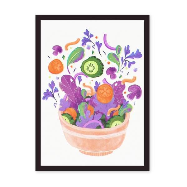 A4 Salad Riso Print