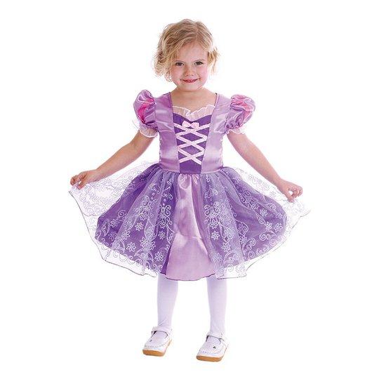 Lila Prinsessa Barn Maskeraddräkt - Small
