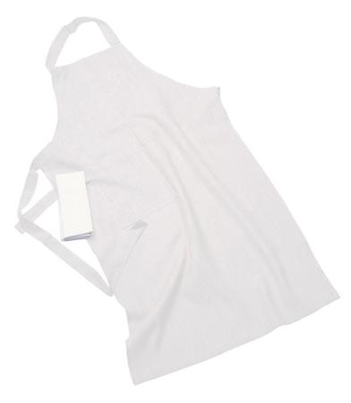 Erik classic langt forkle – Med håndduk, off-white