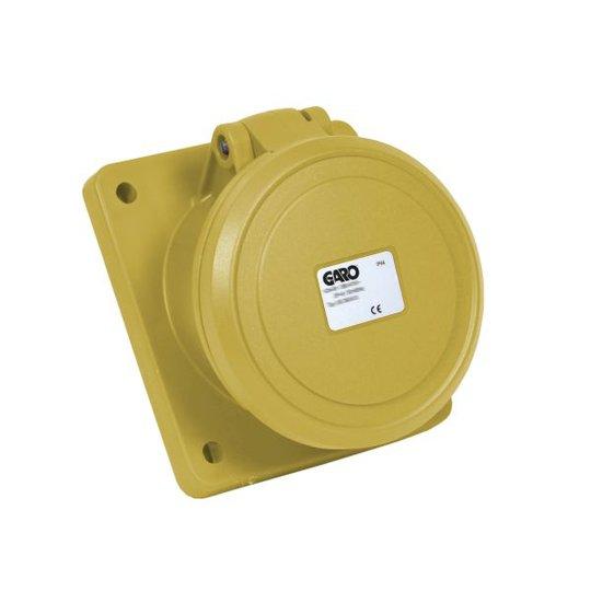 Garo UIS 463-4 S Paneelin ulostulo IP44, 5-napainen, 63A, viisto Keltainen, 4 h