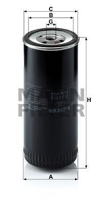 Polttoainesuodatin MANN-FILTER WK 962/5