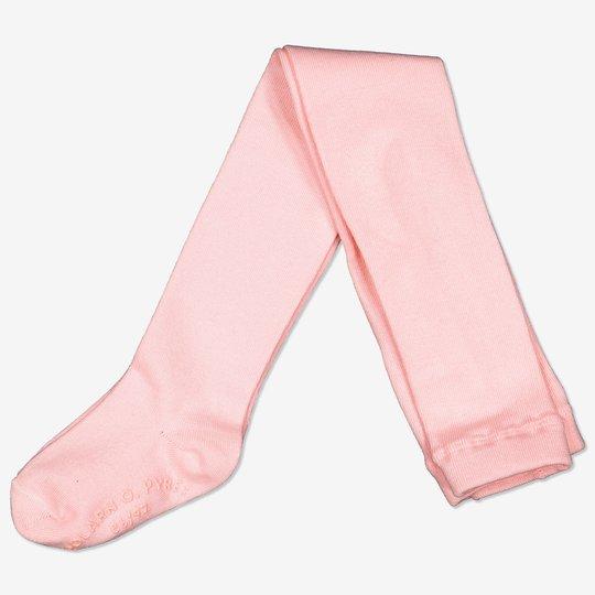Ensfarget strømpebukse baby rosa