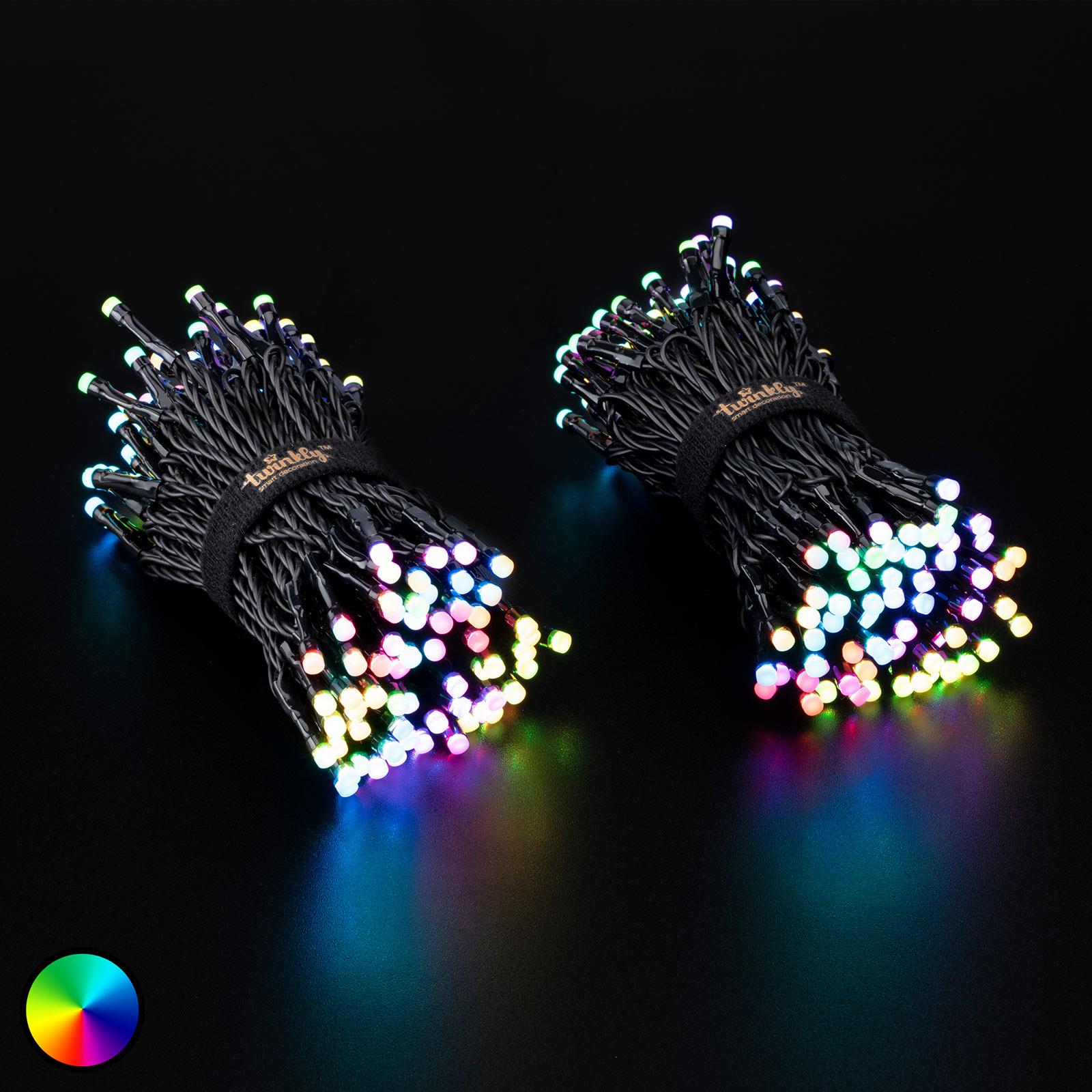 Valoketju Twinkly RGBW, 250-lamppuinen 20 m musta