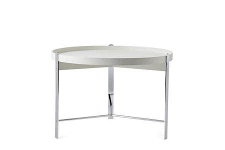 Compose Soffbord Vit Krom Ø70 cm