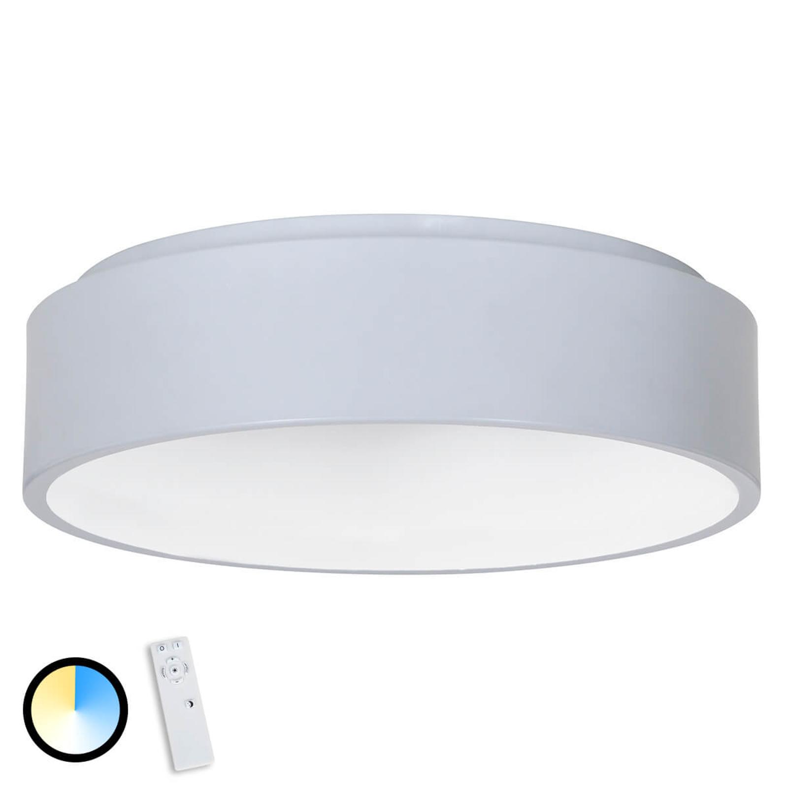 Harmaa Birte-LED-kattovalaisin kaukosäätimellä