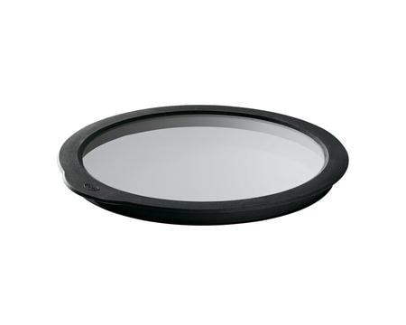 Glaslock klar/svart 24 cm