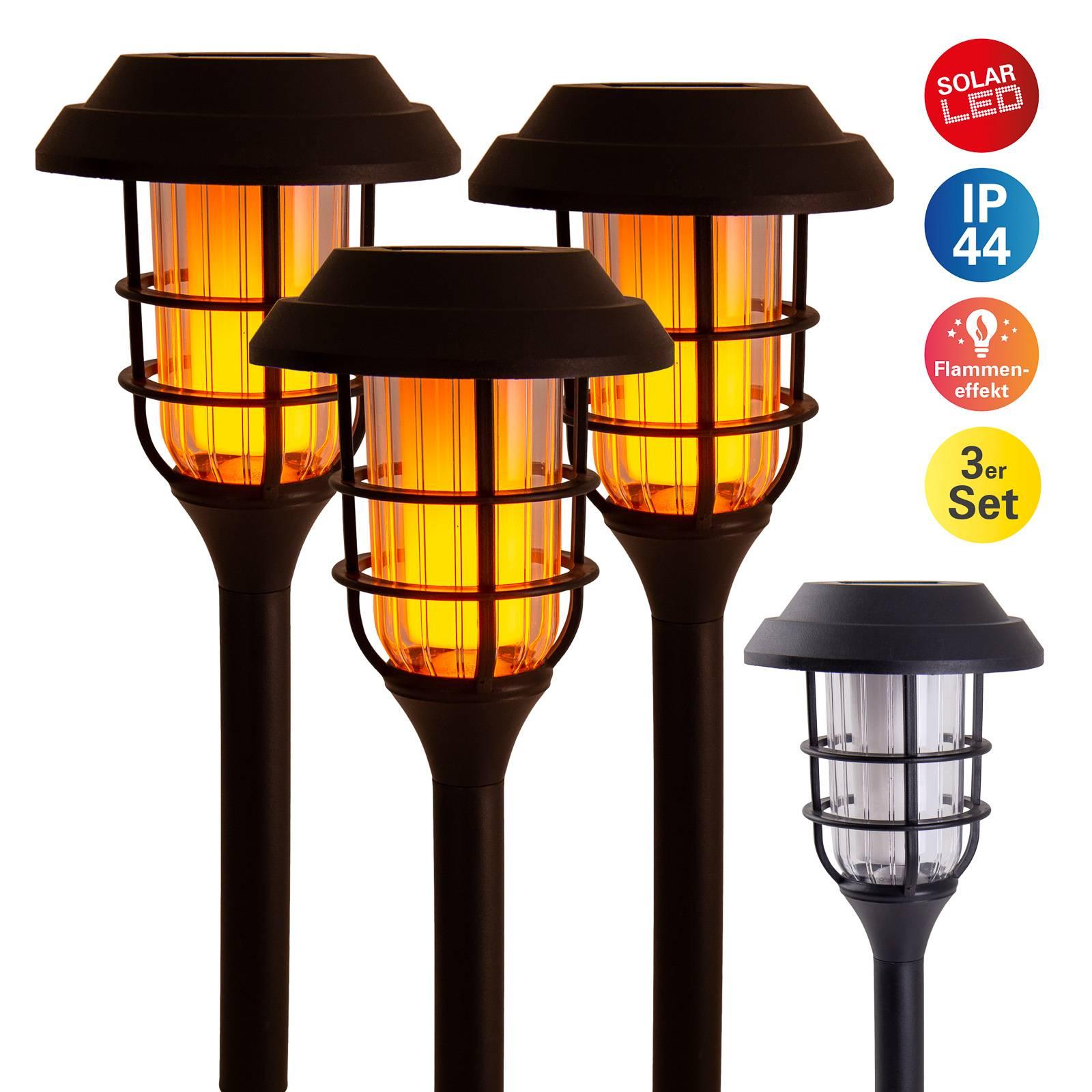 Aurinkokäyttöinen LED-koristelamppu 5264303, 3 kpl