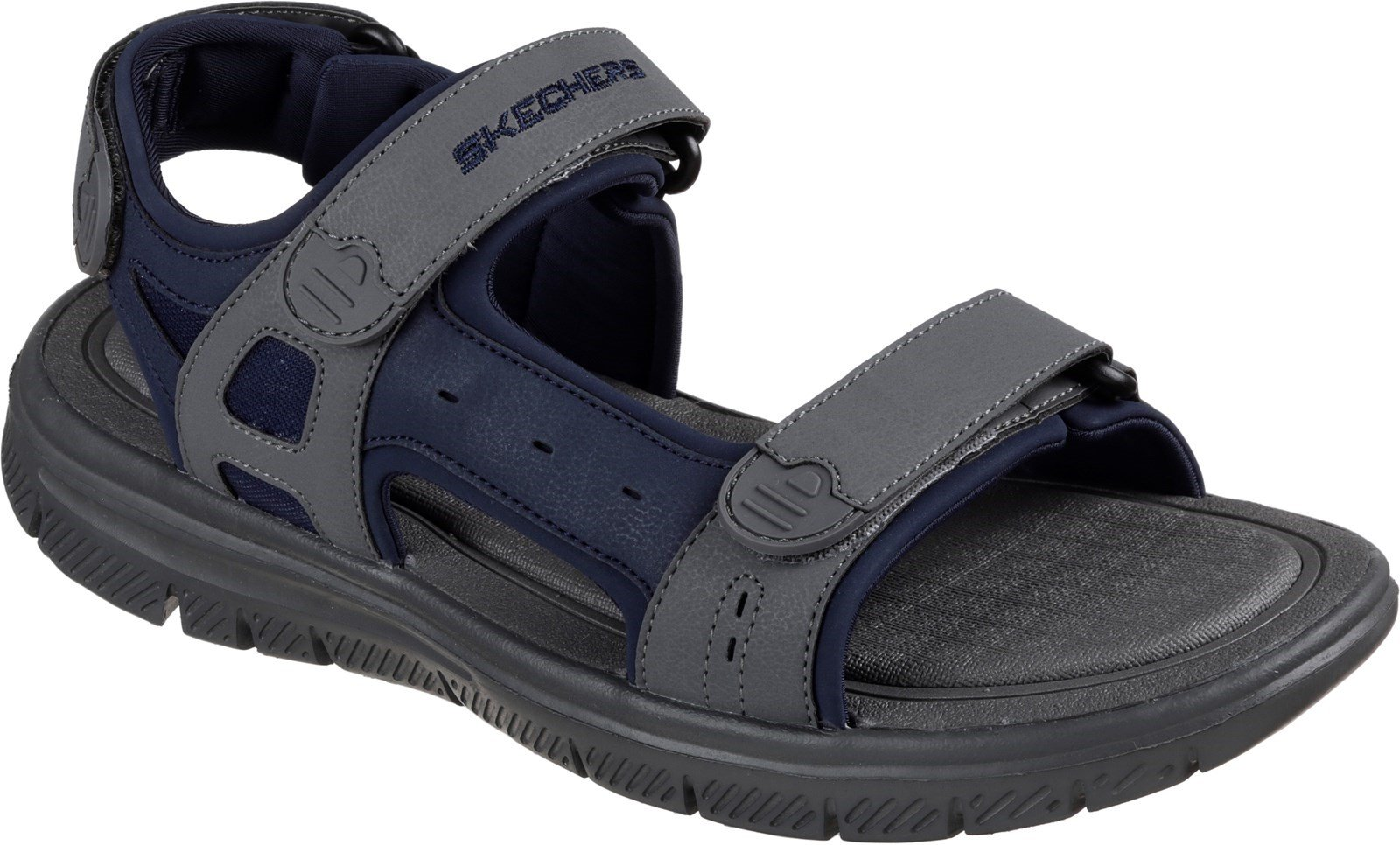 Skechers Men's Flex Advantage S Upwell Summer Sandal Multicolor 32213 - Navy/Charcoal 6