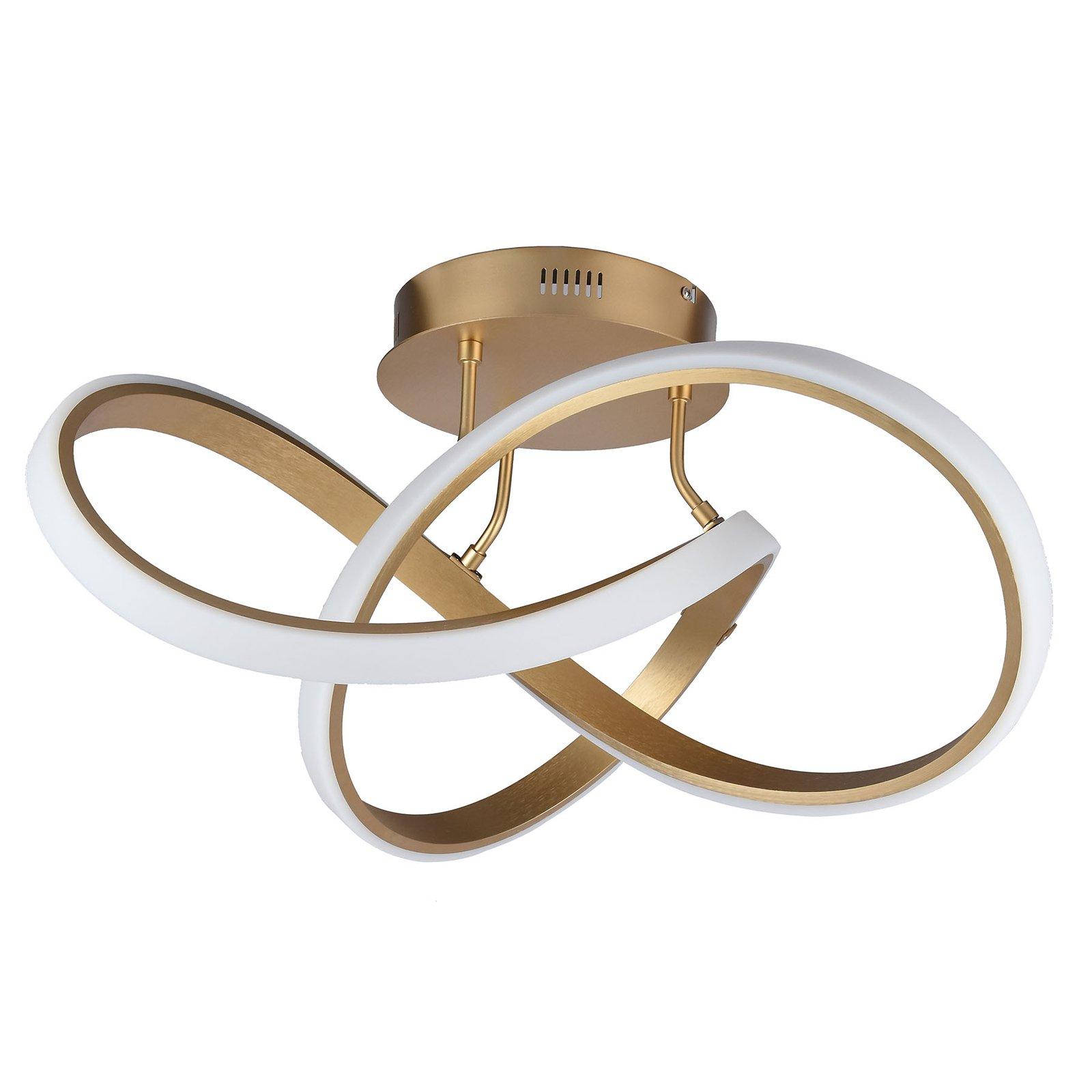 LED-taklampe Indigo, 1 lyskilde, gull matt