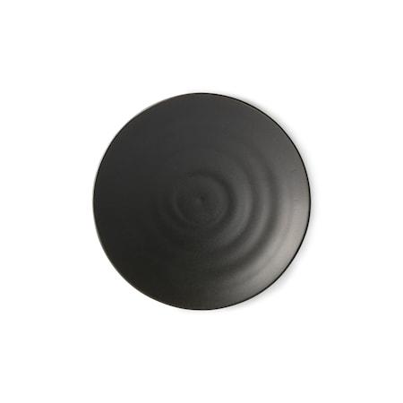 Kyoto ceramics Japansk Dessert Tallrik Matt black
