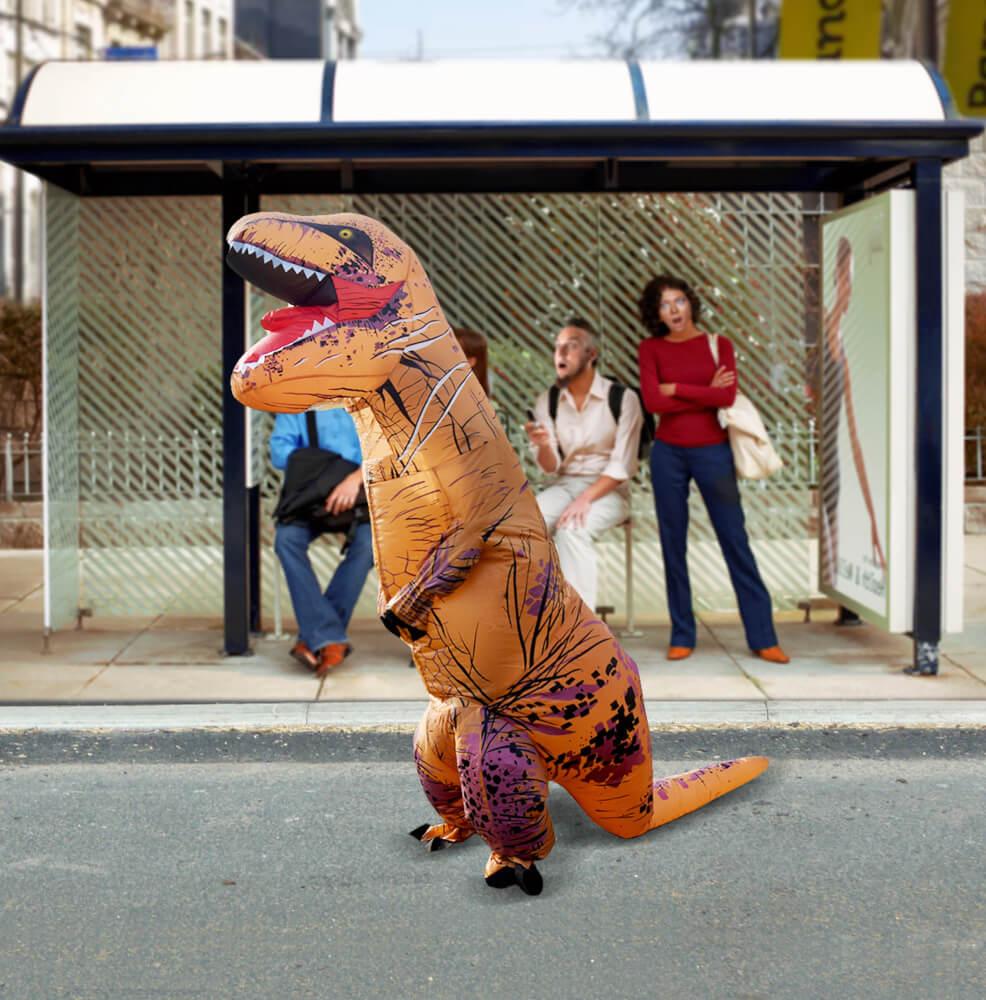 Self-Inflatable Dinosaur Costume (04425)