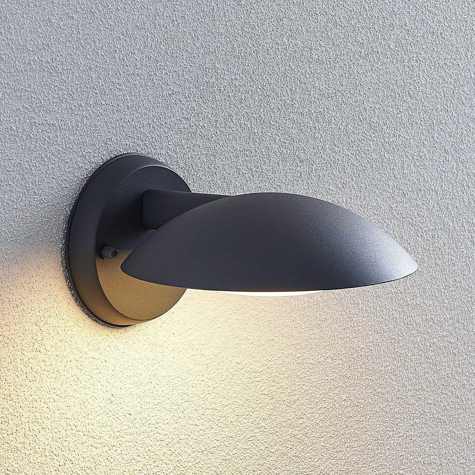 Utendørs LED-vegglampe Maive i mørkegrått