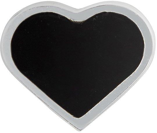 Design Letters Enamel Heart Charm Silver
