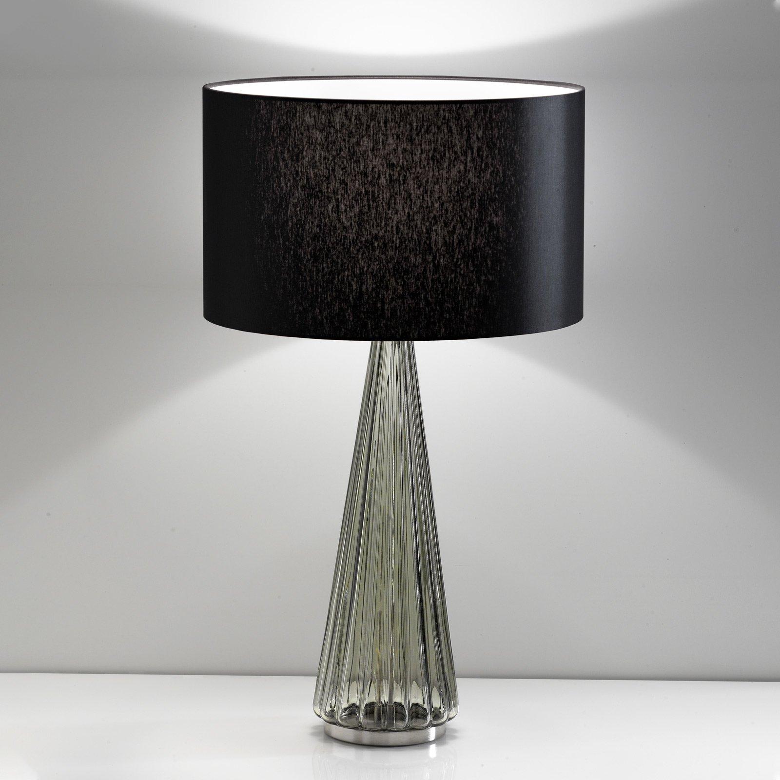 Bordlampe Costa Rica, skjerm svart, fot grå