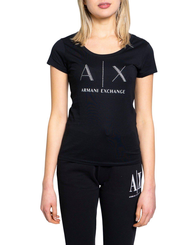 Armani Exchange Women's T-Shirt Various Colours 190484 - black XS