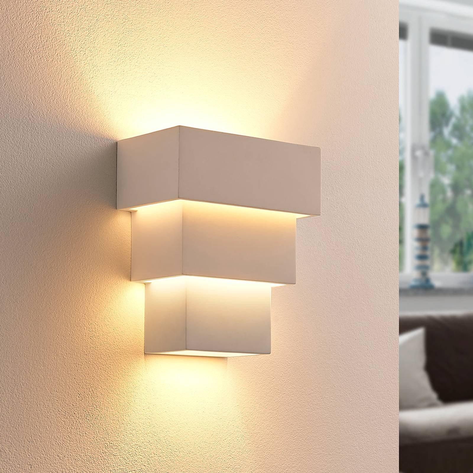 Antonella - effektfull LED-vegglampe i gips