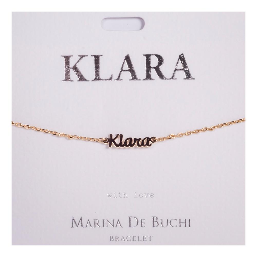 Namnarmband Guld - Klara